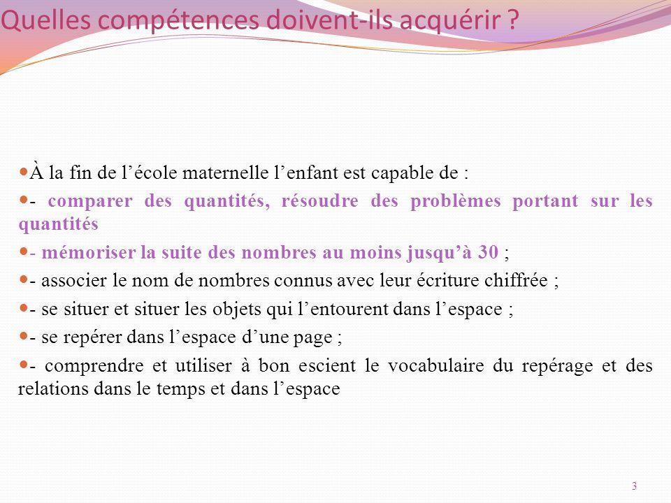 Un exemple de module d'apprentissage en sciences et maths 34 LA MATERNELLE SOCLE DU SOCLE-CLAUDIE RICCI IEN ET FATIHA INZA EMFE-STAGE PRF AMSUD MAI 2014