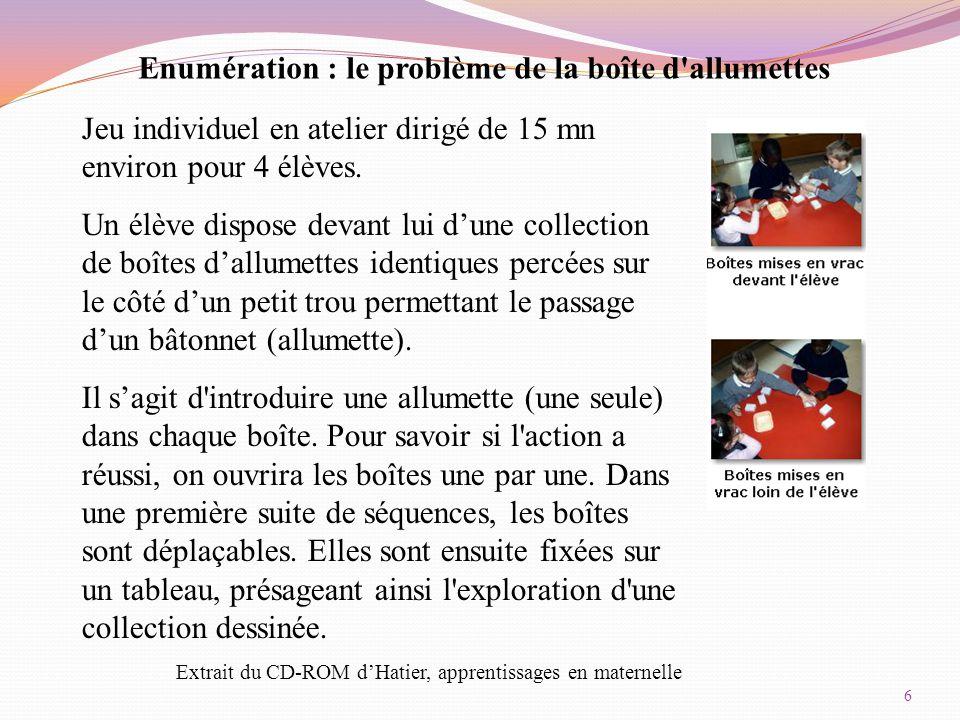 7 La construction du nombre LA MATERNELLE SOCLE DU SOCLE-CLAUDIE RICCI IEN ET FATIHA INZA EMFE-STAGE PRF AMSUD MAI 2014