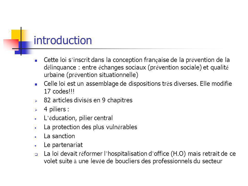 introduction Cette loi s ' inscrit dans la conception fran ç aise de la pr é vention de la d é linquance : entre é changes sociaux (pr é vention socia