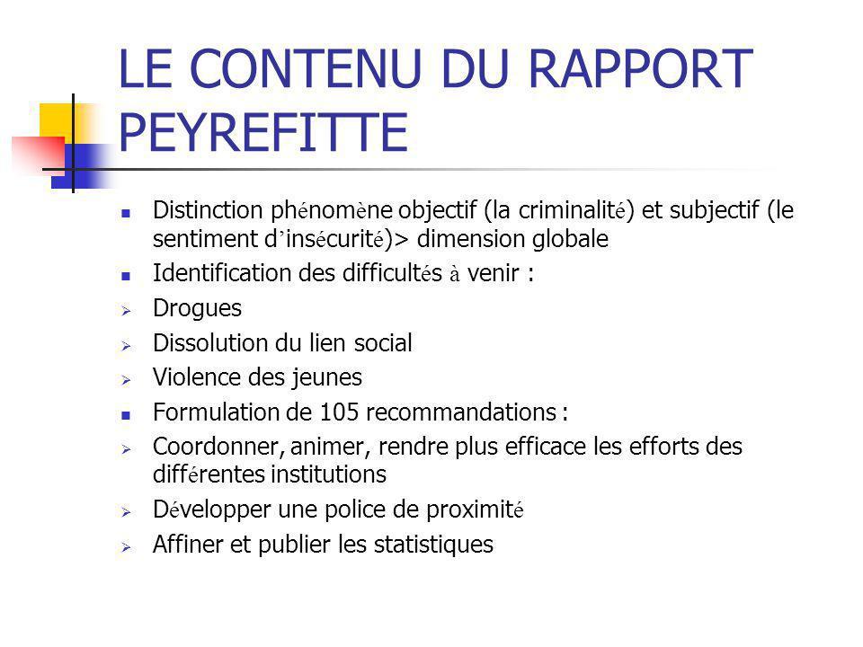 LA POLITIQUE DE SECURITE PUBLIQUE (1993-1996)