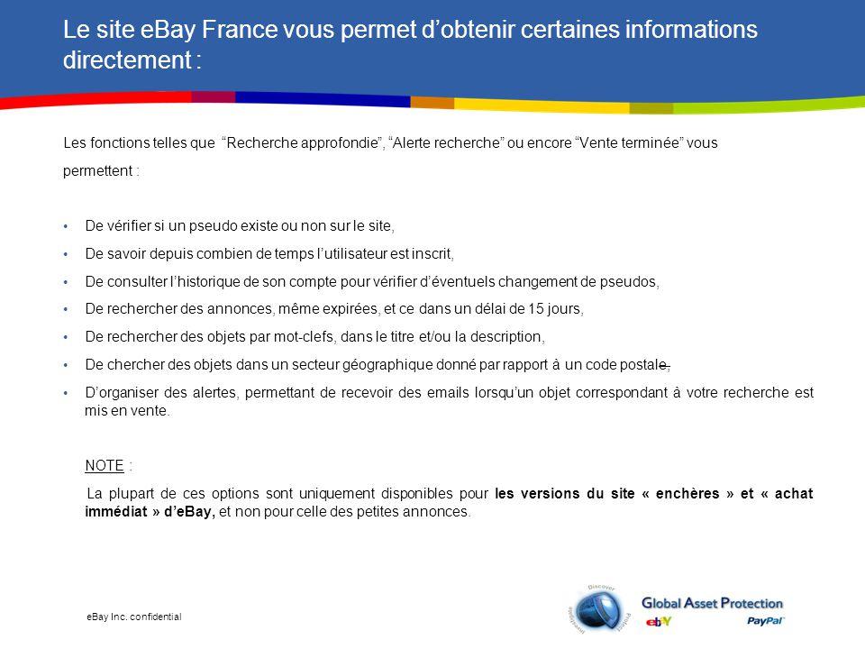 eBay Inc. confidential Accéder à l'option « Recherche approfondie » :