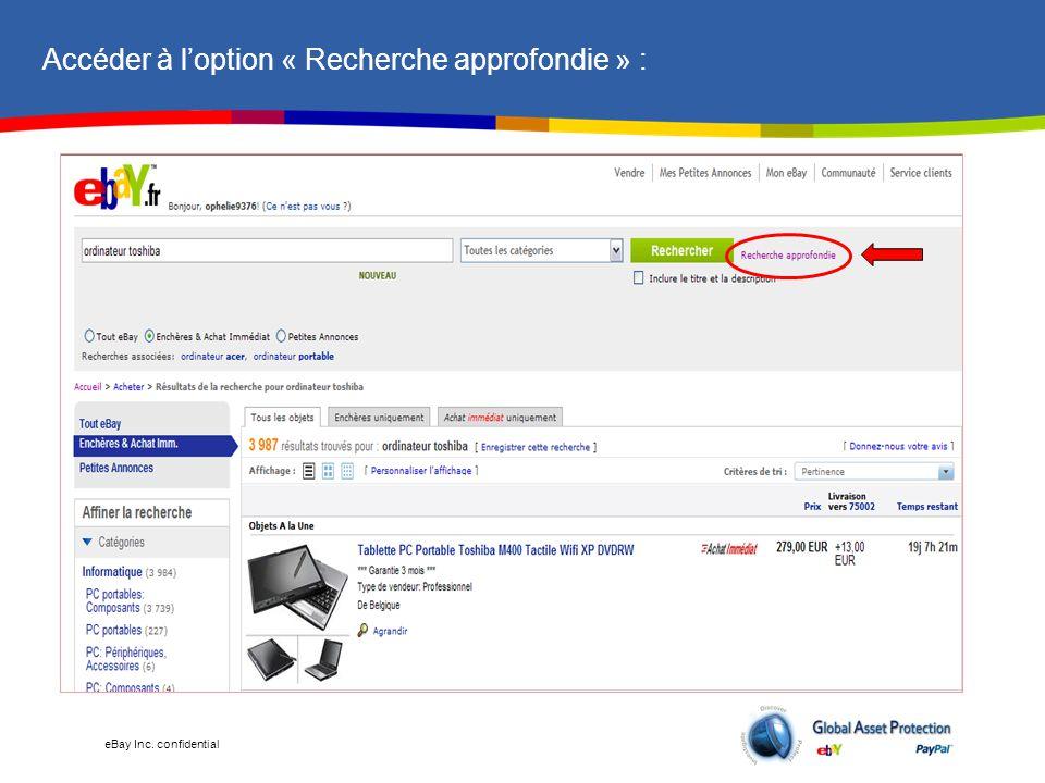 eBay Inc.confidential Besoin d'aide .