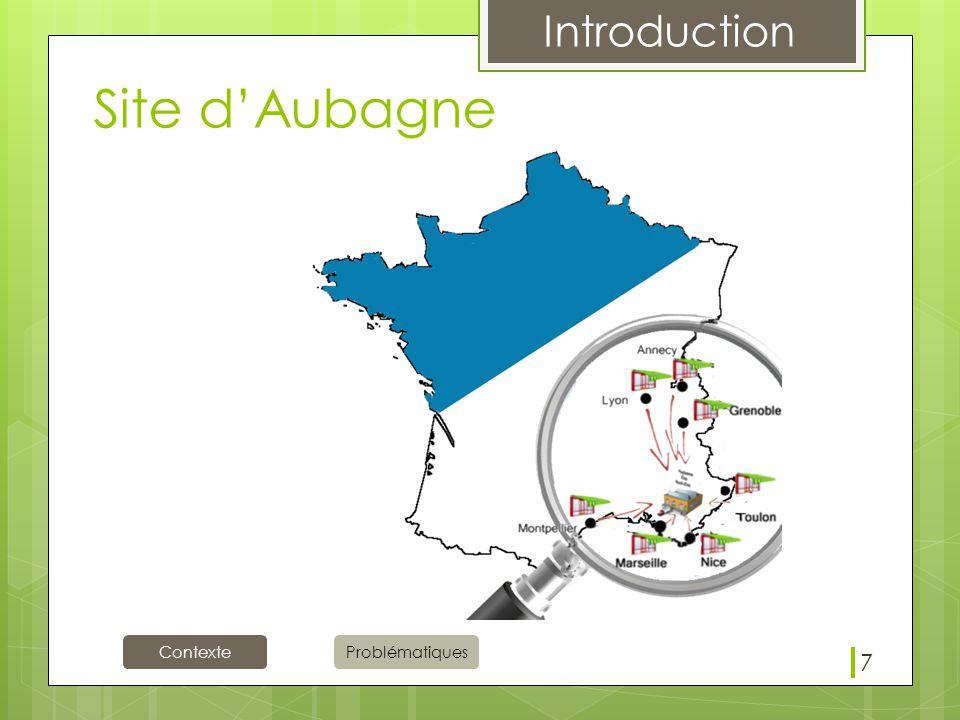Contexte Introduction Problématiques Site d'Aubagne 7