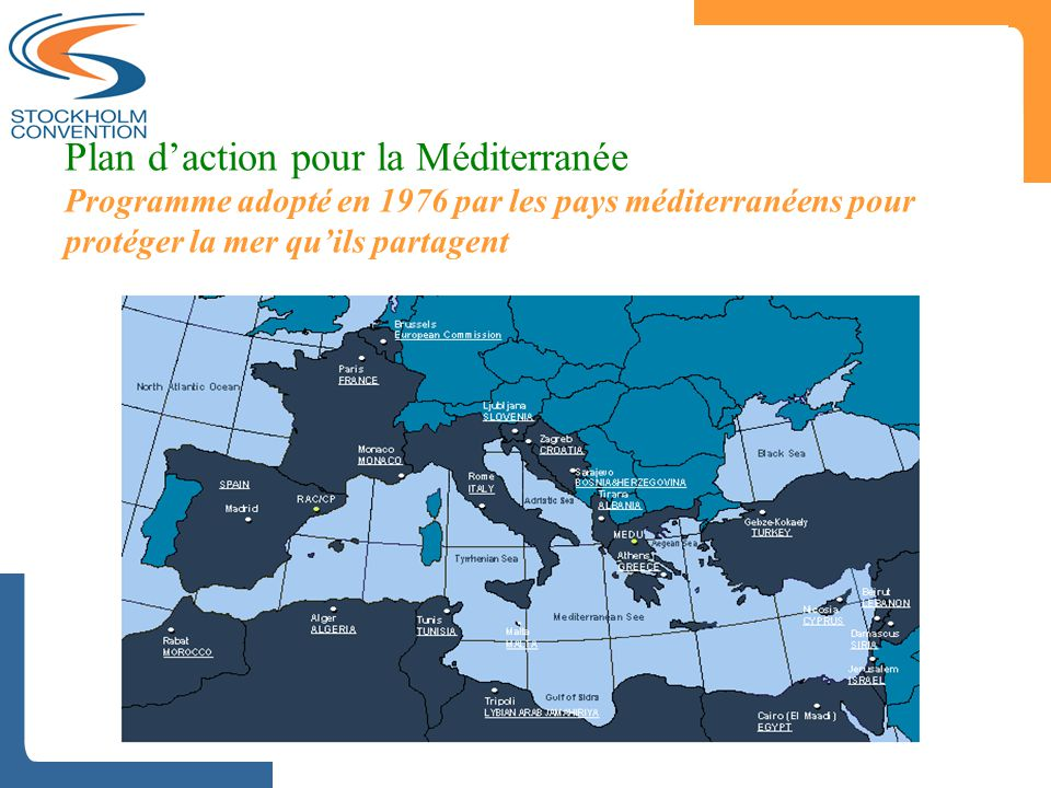 Plan d'action pour la Méditerranée Programme adopté en 1976 par les pays méditerranéens pour protéger la mer qu'ils partagent