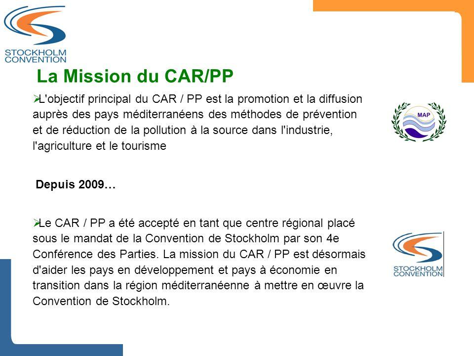  L'objectif principal du CAR / PP est la promotion et la diffusion auprès des pays méditerranéens des méthodes de prévention et de réduction de la po