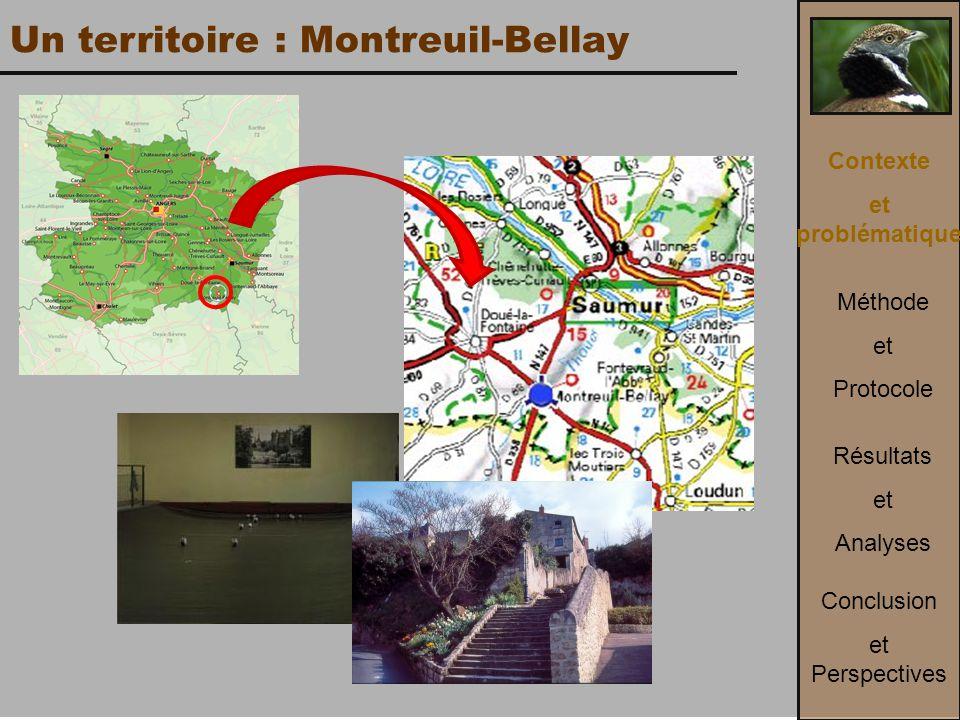 Un territoire : Montreuil-Bellay Contexte et problématique Méthode et Protocole Conclusion et Perspectives Résultats et Analyses