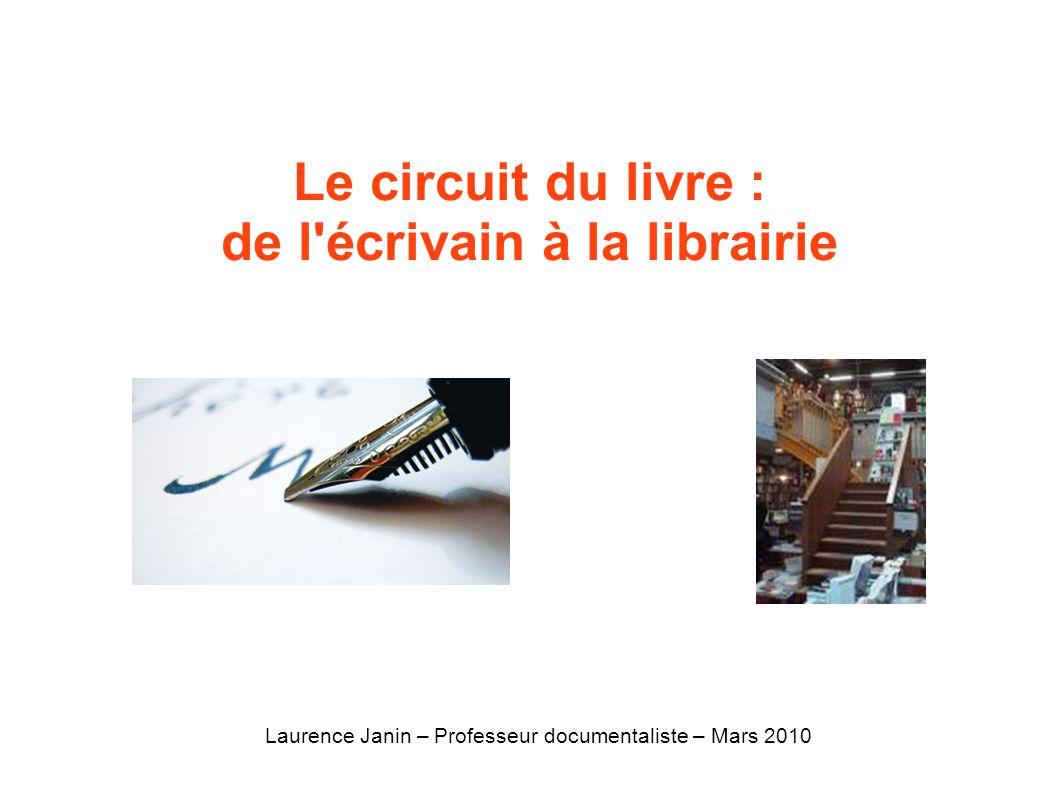 Le circuit du livre : de l'écrivain à la librairie Laurence Janin – Professeur documentaliste – Mars 2010
