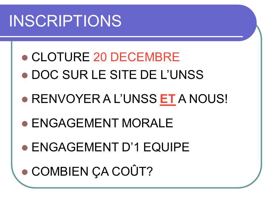 INSCRIPTIONS CLOTURE 20 DECEMBRE DOC SUR LE SITE DE L'UNSS RENVOYER A L'UNSS ET A NOUS.