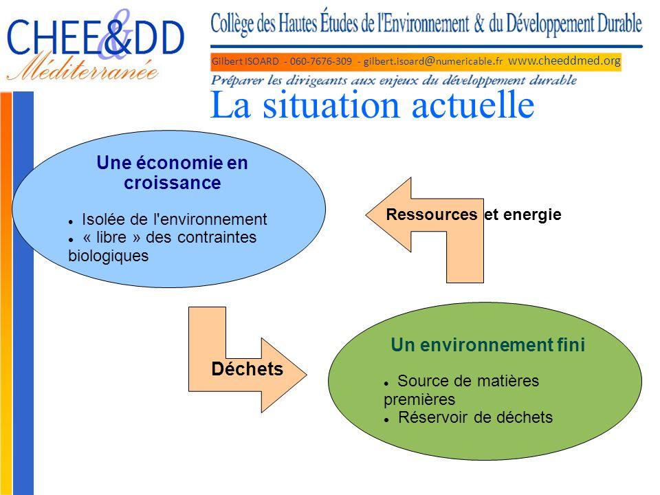 Gilbert ISOARD - 060-7676-309 - gilbert. isoard @ numericable. fr www.cheeddmed.org La situation actuelle Une économie en croissance Isolée de l'envir