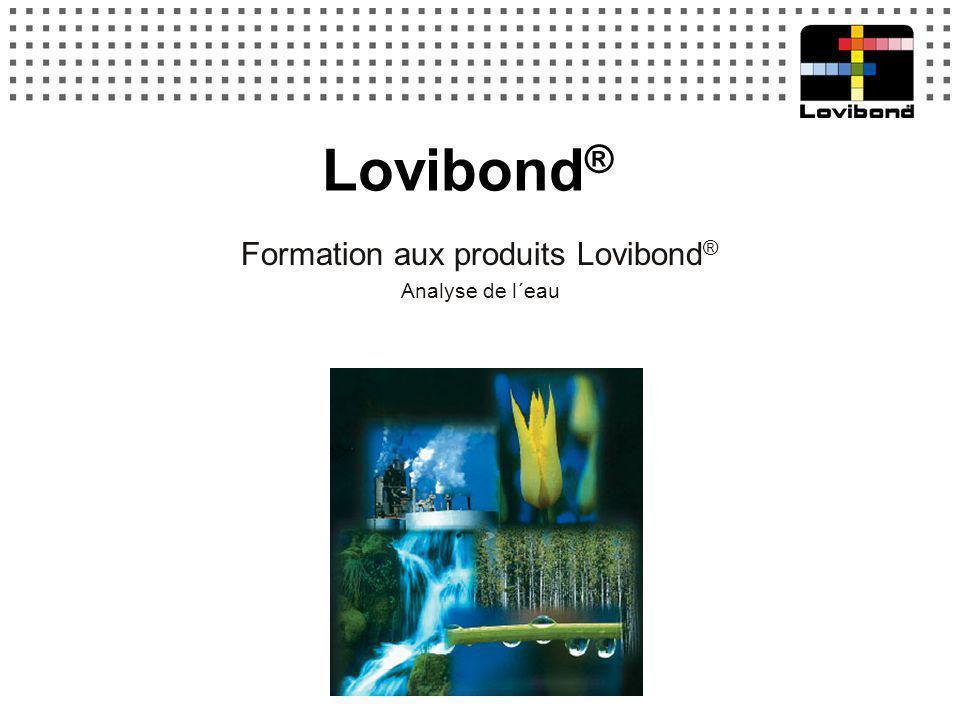 Lovibond ® Formation aux produits Lovibond ® Analyse de l´eau