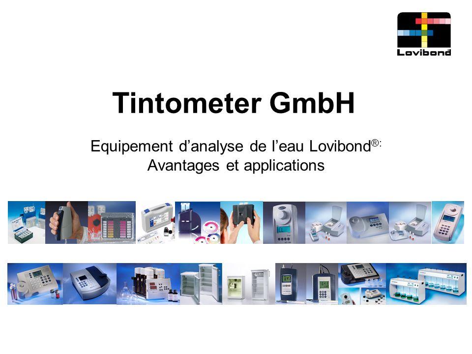 Tintometer GmbH Equipement d'analyse de l'eau Lovibond ®: Avantages et applications
