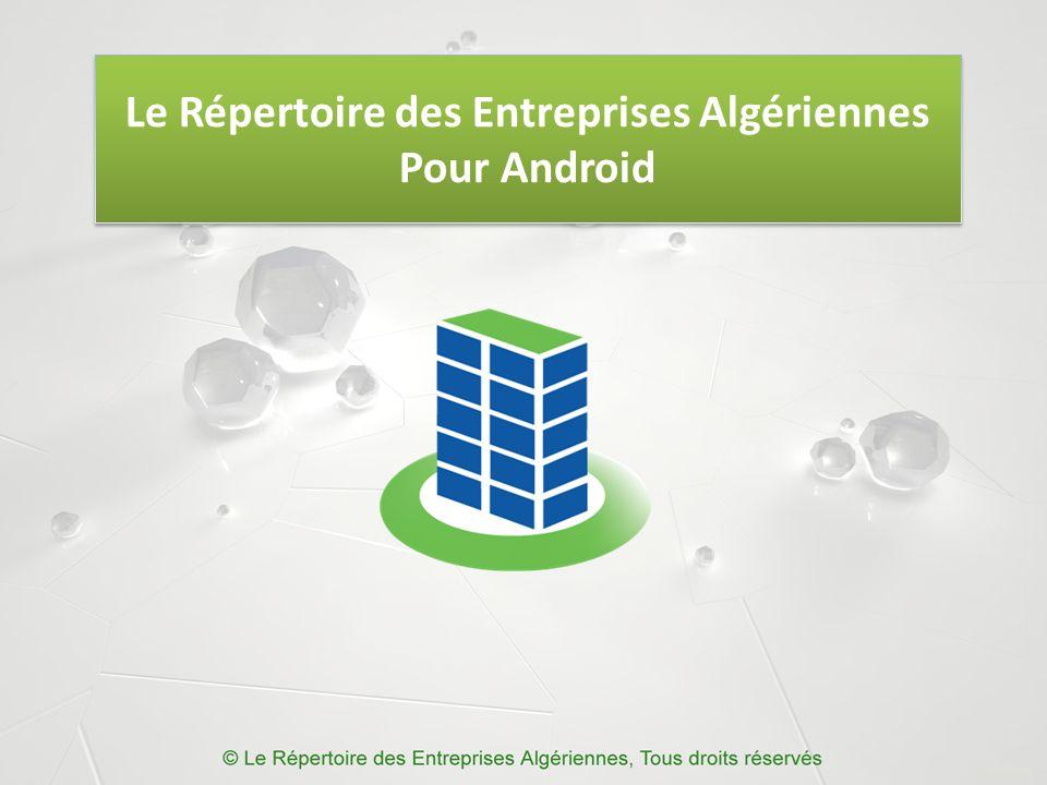 Le Répertoire des Entreprises Algériennes Pour Android