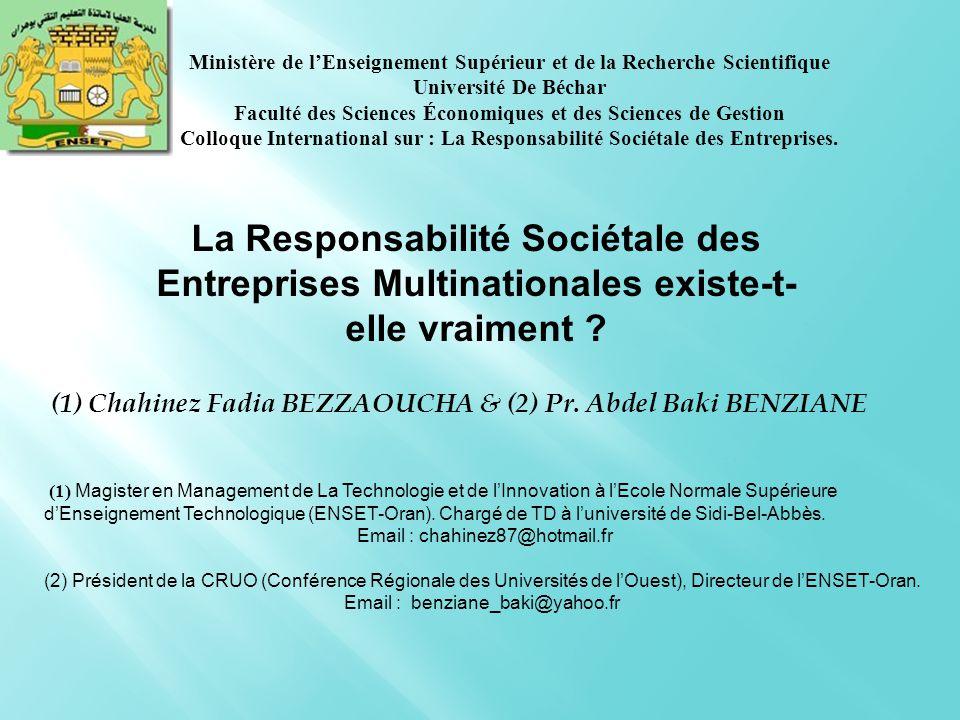  A l'heure actuelle, la prise en considération de la responsabilité sociétale de l'entreprise (RSE) se fait de plus en plus fréquente chez les firmes quel que soit leur secteur d'activité.