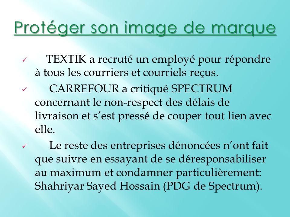 TEXTIK a recruté un employé pour répondre à tous les courriers et courriels reçus.