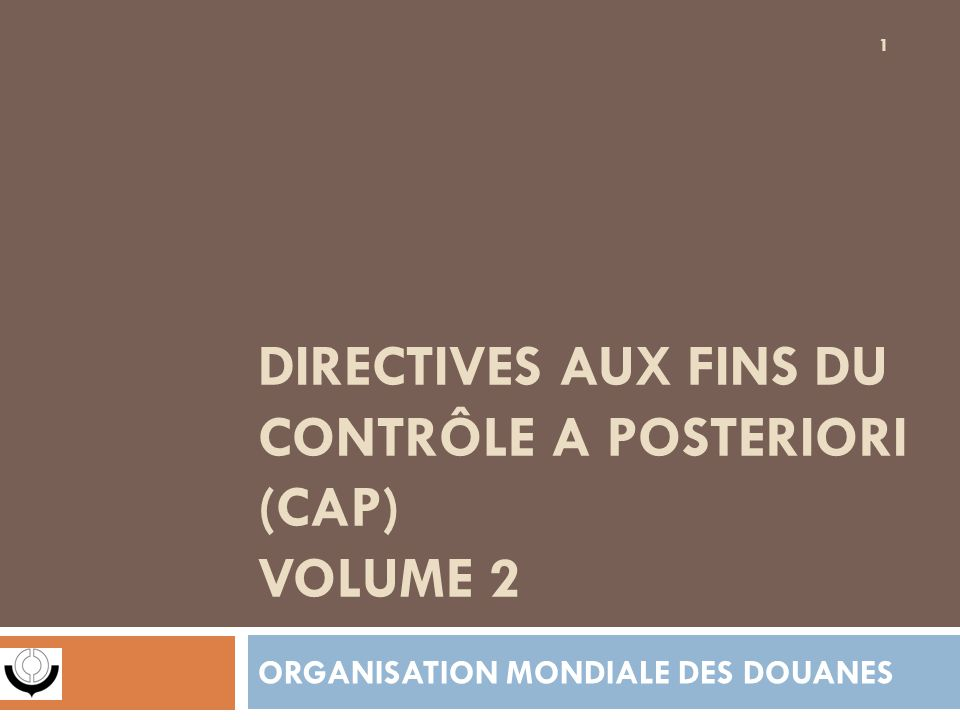 MISE EN ŒUVRE DES CAP Le processus de CAP décrit dans les présentes directives peut se diviser en plusieurs phases: 1.