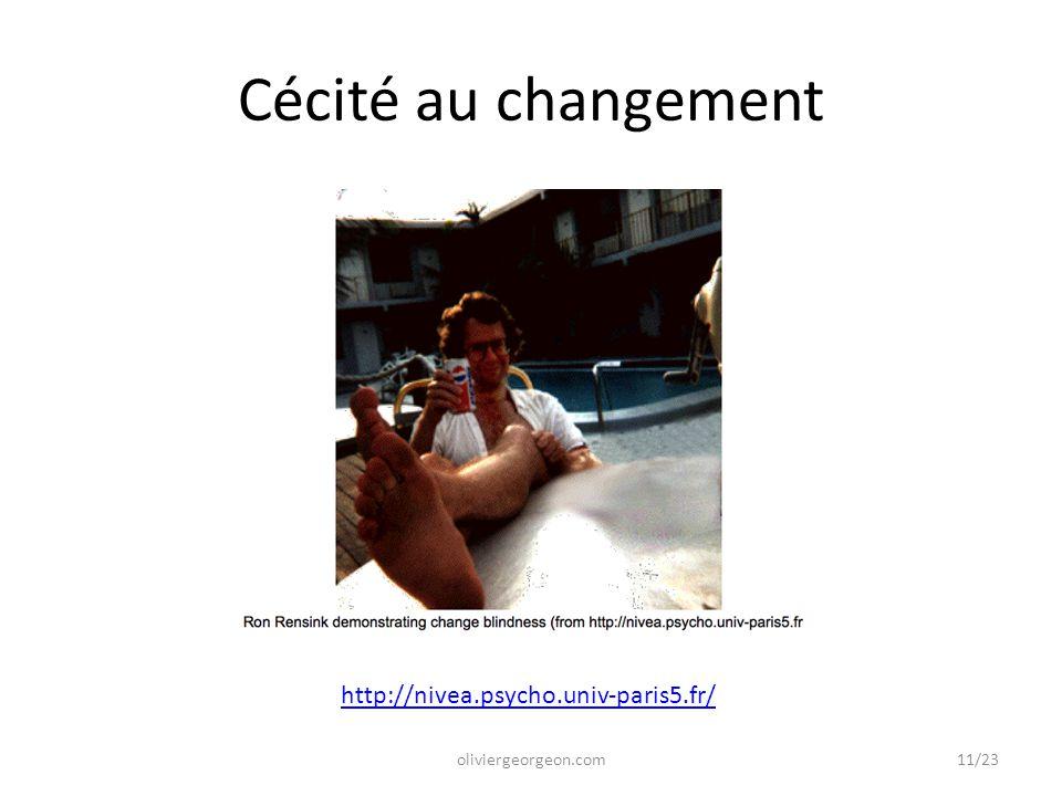 Cécité au changement oliviergeorgeon.com http://nivea.psycho.univ-paris5.fr/ 11/23