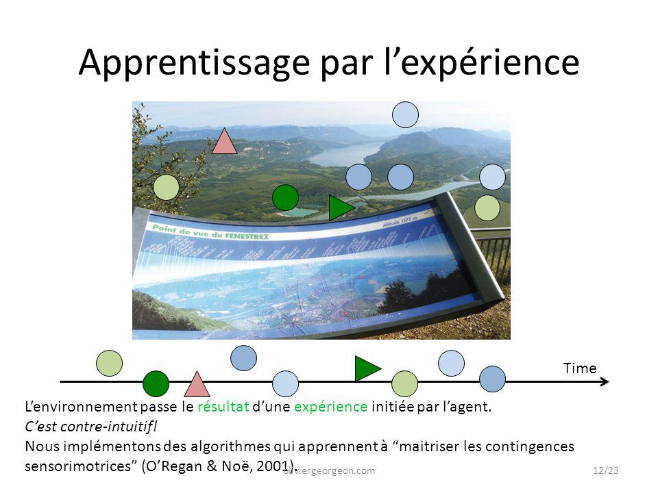 Time L'environnement passe le résultat d'une expérience initiée par l'agent. C'est contre-intuitif! Nous implémentons des algorithmes qui apprennent à