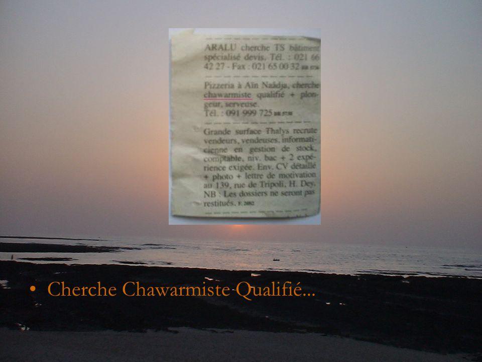 Cherche Chawarmiste Qualifié...