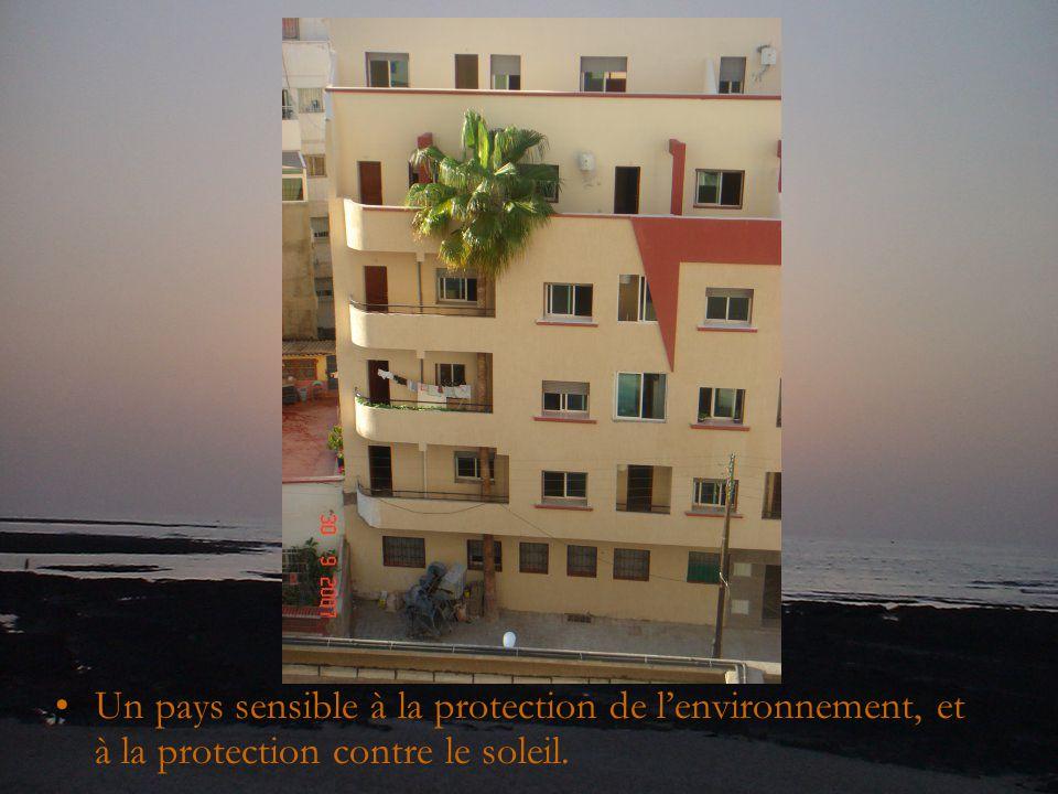 Un pays sensible à la protection de l'environnement, et à la protection contre le soleil.