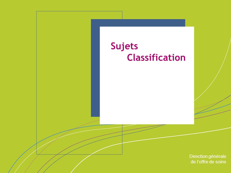 Direction générale de l'offre de soins ORGANISATION & MISSIONS Direction générale de l'offre de soins Champs SSR – PSY - USLD