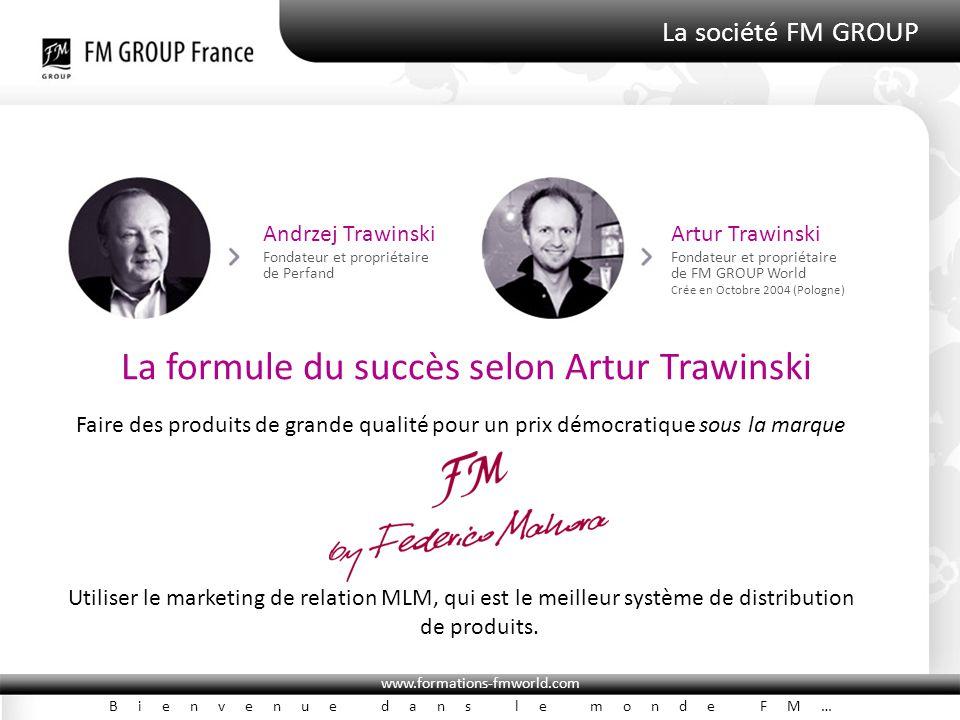 www.formations-fmworld.com Bienvenue dans le monde FM… La société FM GROUP Andrzej Trawinski Fondateur et propriétaire de Perfand Artur Trawinski Fond