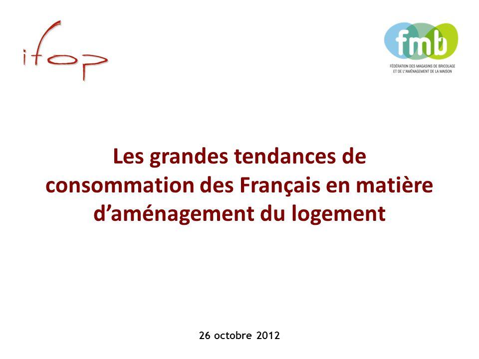 26 octobre 2012 Les grandes tendances de consommation des Français en matière d'aménagement du logement