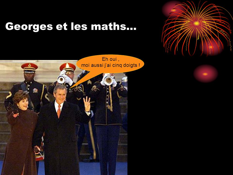 Georges et les maths… Eh oui, moi aussi j'ai cinq doigts !