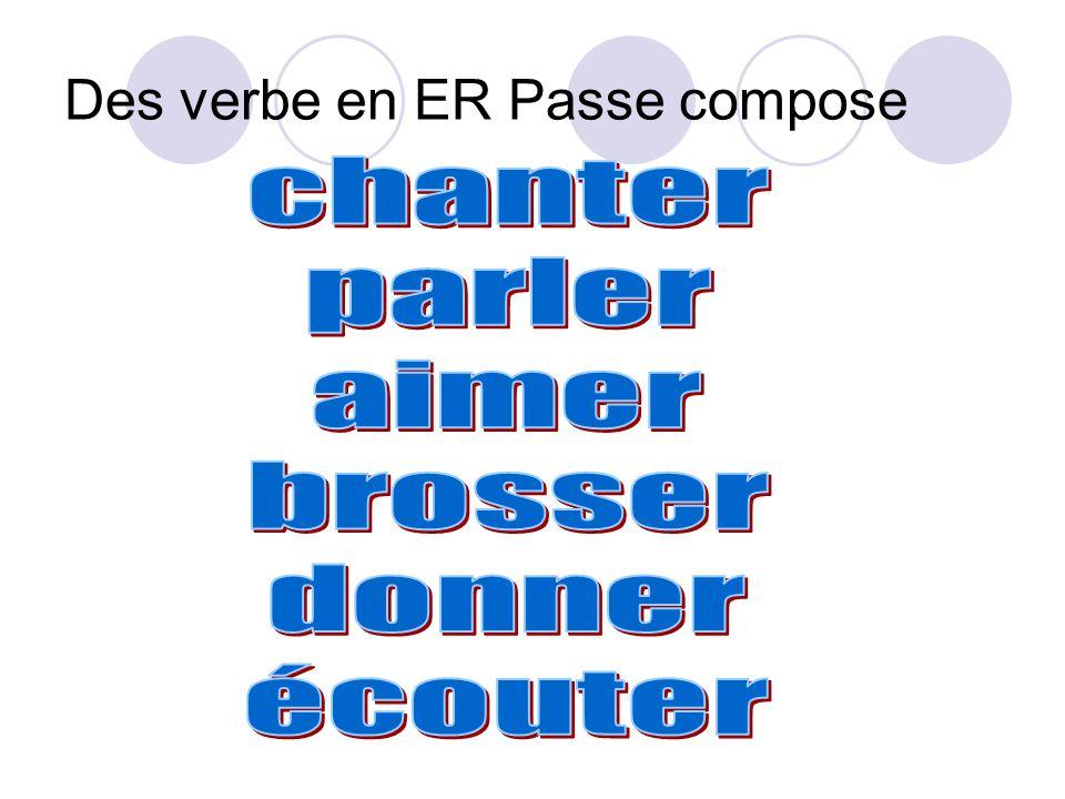 Des verbe en ER Passe compose