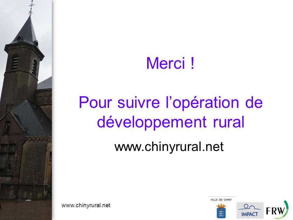 www.chinyrural.net Merci ! Pour suivre l'opération de développement rural www.chinyrural.net