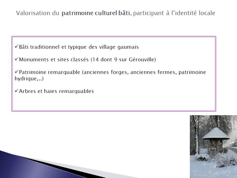 Bâti traditionnel et typique des village gaumais Monuments et sites classés (14 dont 9 sur Gérouville) Patrimoine remarquable (anciennes forges, ancie