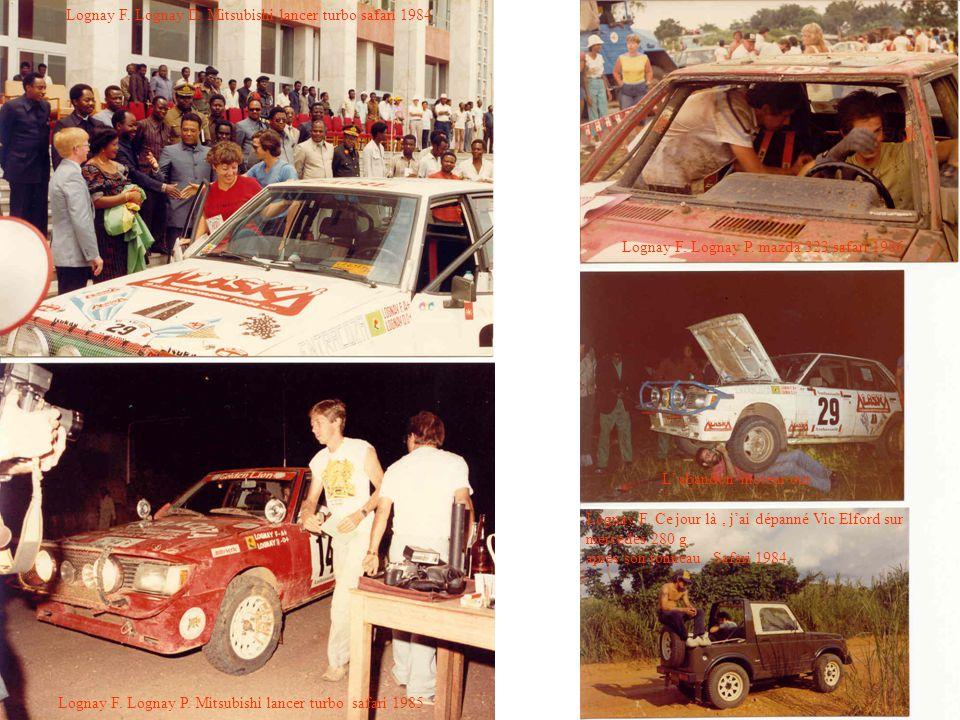 Lognay F. Lognay D. Mitsubishi lancer turbo safari 1984 Lognay F. Lognay P. Mitsubishi lancer turbo safari 1985 Lognay F. Lognay P. mazda 323 safari 1