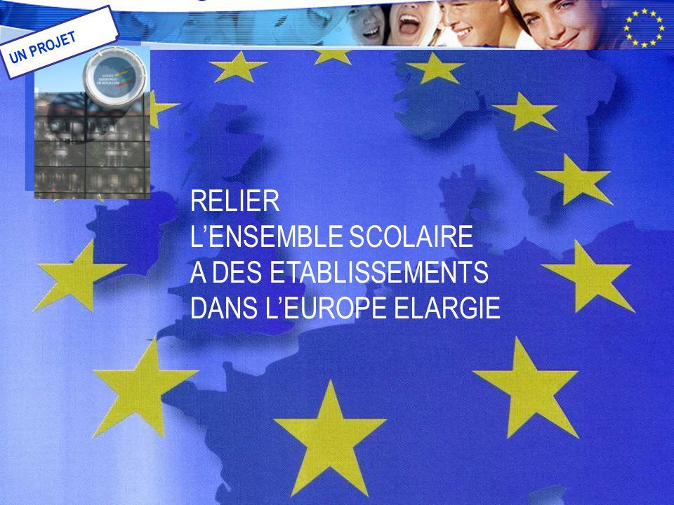 RELIER L'ENSEMBLE SCOLAIRE A DES ETABLISSEMENTS DANS L'EUROPE ELARGIE UN PROJET