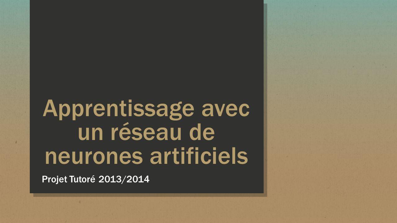 Apprentissage avec un réseau de neurones artificiels Projet Tutoré 2013/2014
