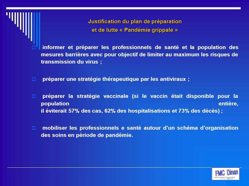 Justification du plan de préparation et de lutte « Pandémie grippale »  informer et préparer les professionnels de santé et la population des mesures