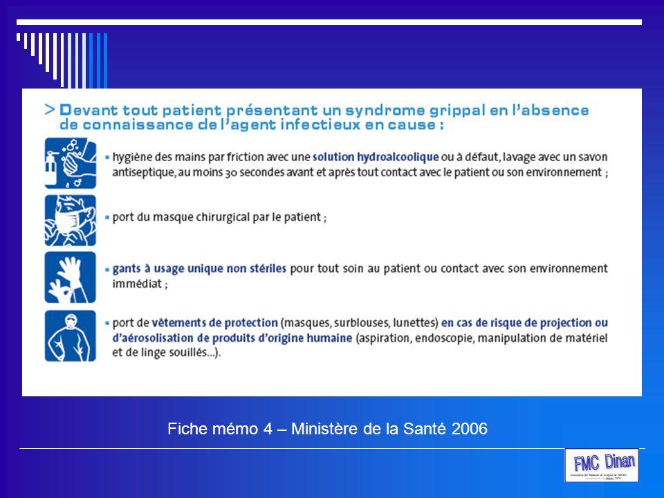 Fiche mémo 4 – Ministère de la Santé 2006