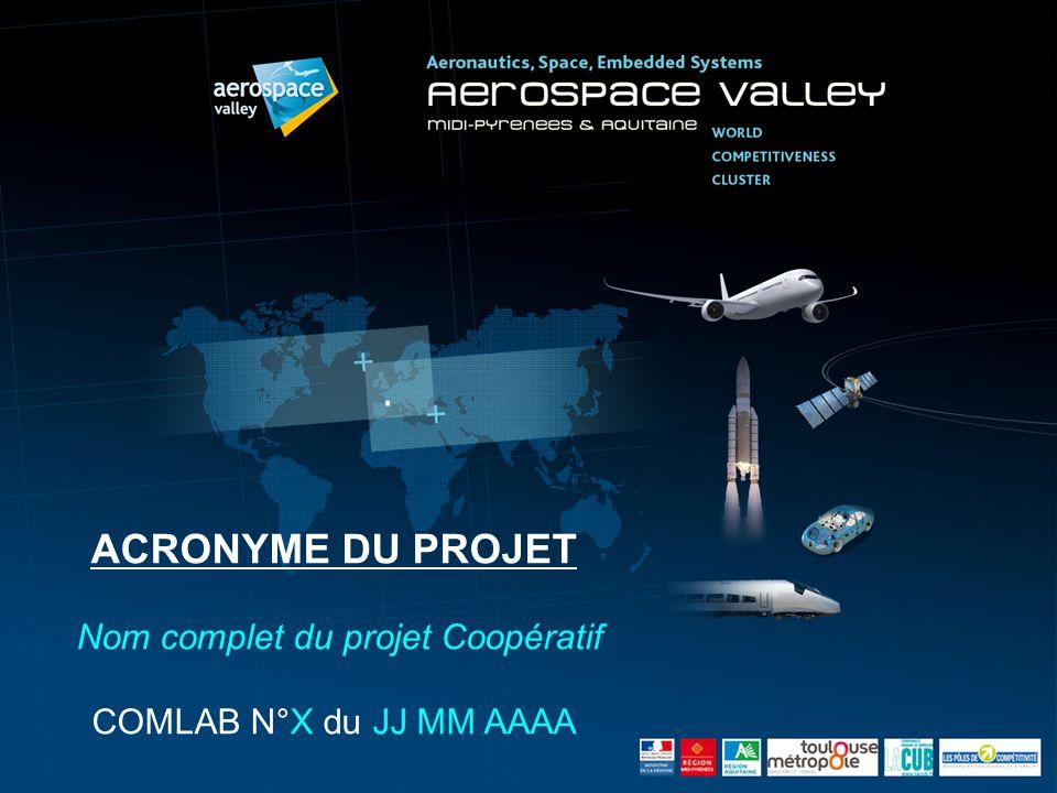 G. Ladier ACRONYME DU PROJET Nom complet du projet Coopératif COMLAB N°X du JJ MM AAAA