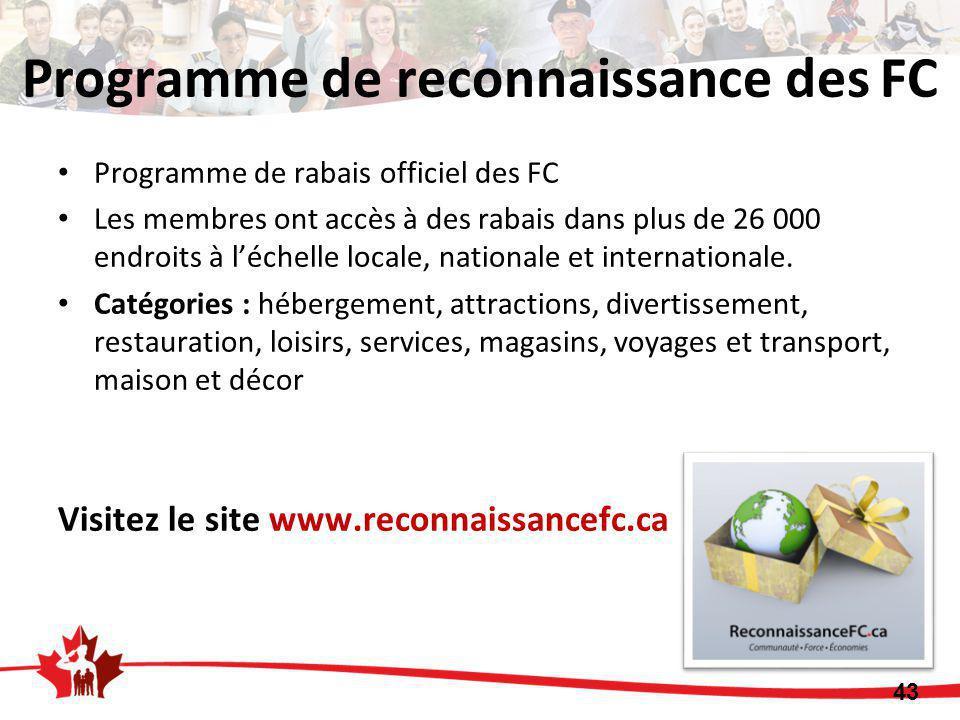 Programme de rabais officiel des FC Les membres ont accès à des rabais dans plus de 26 000 endroits à l'échelle locale, nationale et internationale.