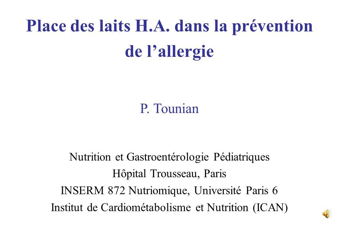 Nutrition et Gastroentérologie Pédiatriques Hôpital Trousseau, Paris INSERM 872 Nutriomique, Université Paris 6 Institut de Cardiométabolisme et Nutrition (ICAN) Place des laits H.A.