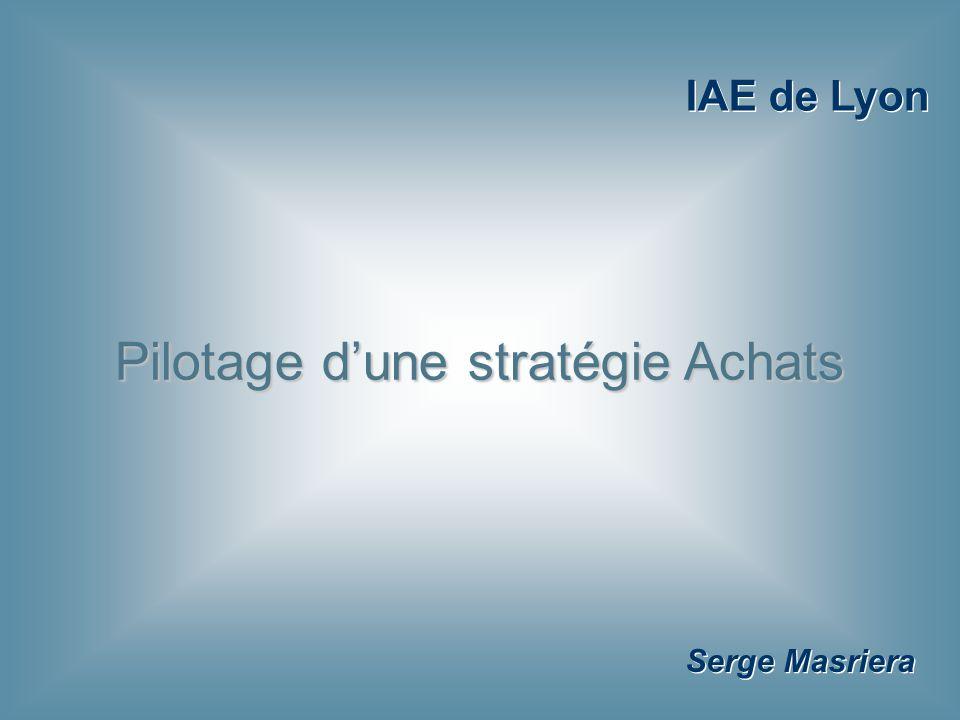 Serge Masriera Pilotage d'une stratégie Achats IAE de Lyon