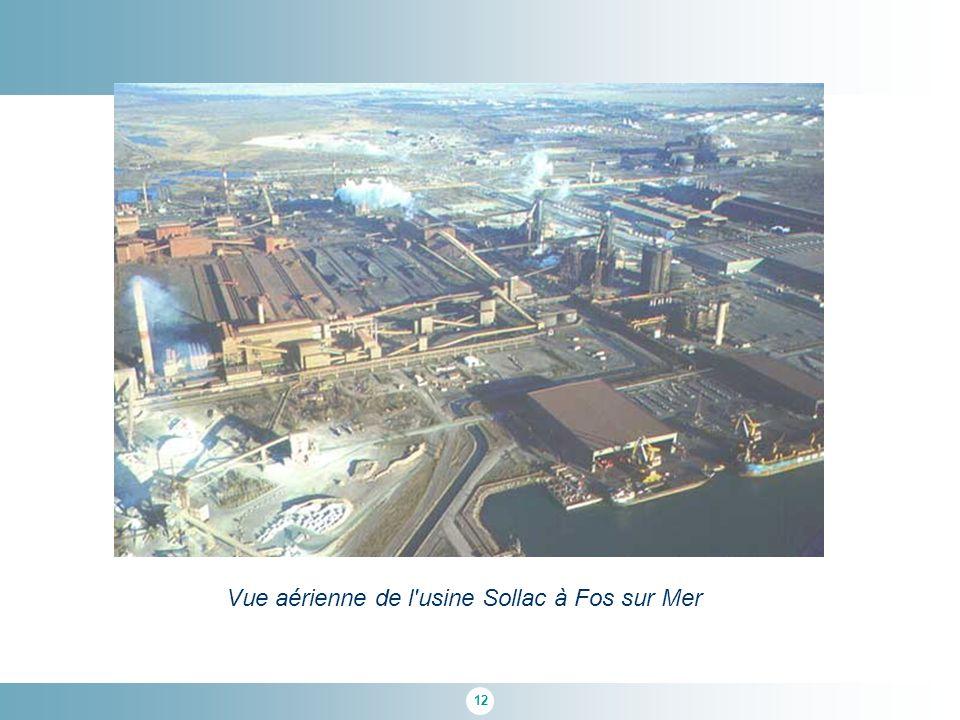 12 Vue aérienne de l usine Sollac à Fos sur Mer
