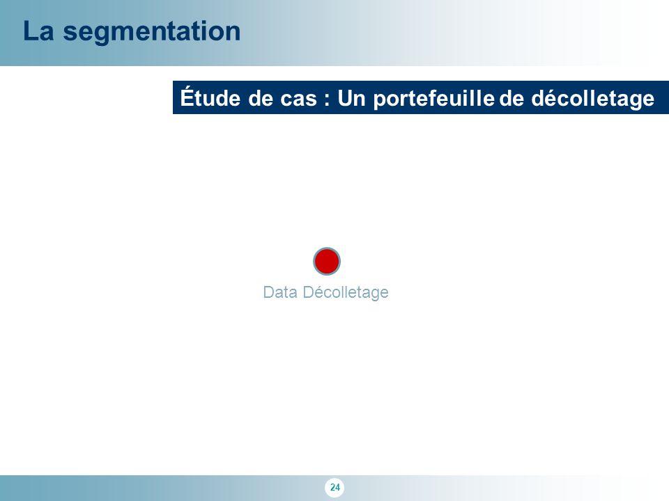 24 La segmentation Étude de cas : Un portefeuille de décolletage Data Décolletage