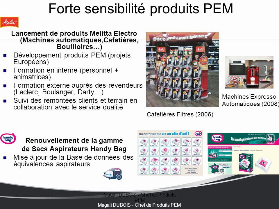 Magali DUBOIS - Chef de Produits PEM Forte sensibilité produits PEM Lancement de produits Melitta Electro (Machines automatiques,Cafetières, Bouilloir