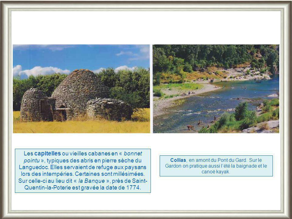 A une vingtaine de km d'Uzès, perché sur une butte en grès calcaire, le charmant village de Castillon du Gard domine l'extrémité Sud des gorges du Gar