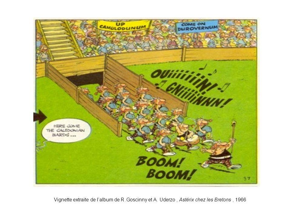 Vignette extraite de l'album de R.Goscinny et A. Uderzo, Astérix chez les Bretons, 1966
