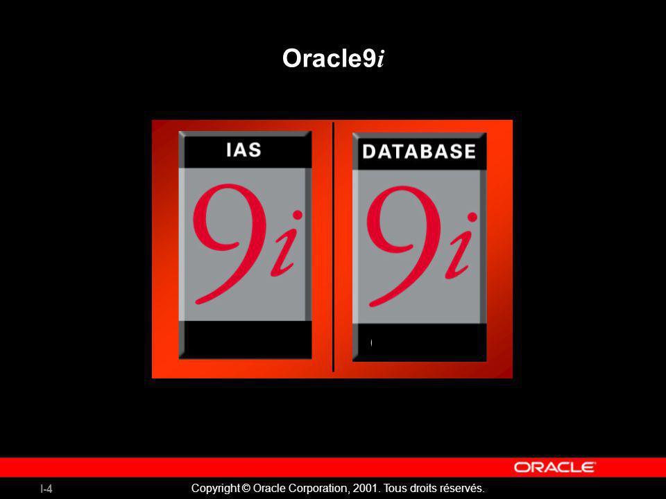 I-4 Copyright © Oracle Corporation, 2001. Tous droits réservés. Oracle9 i