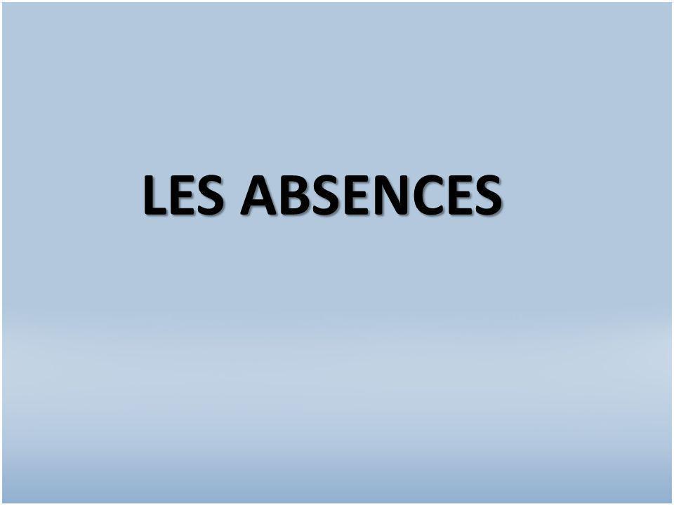 LES ABSENCES