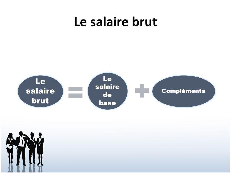 Le salaire brut Le salaire de base Compléments