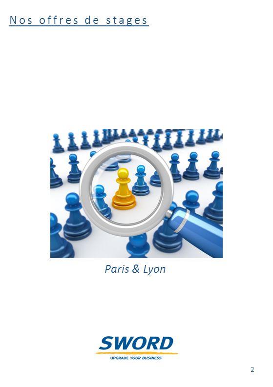 Les sujets de stage - Lyon Réf : SIG/2012-001 Open Data Intelligence L'objectif du stage est la mise en œuvre d'un système d'exploitation, de publication et d'analyse de données publiques géo-localisées, autrement dit un portail Open Data de géo-BI.