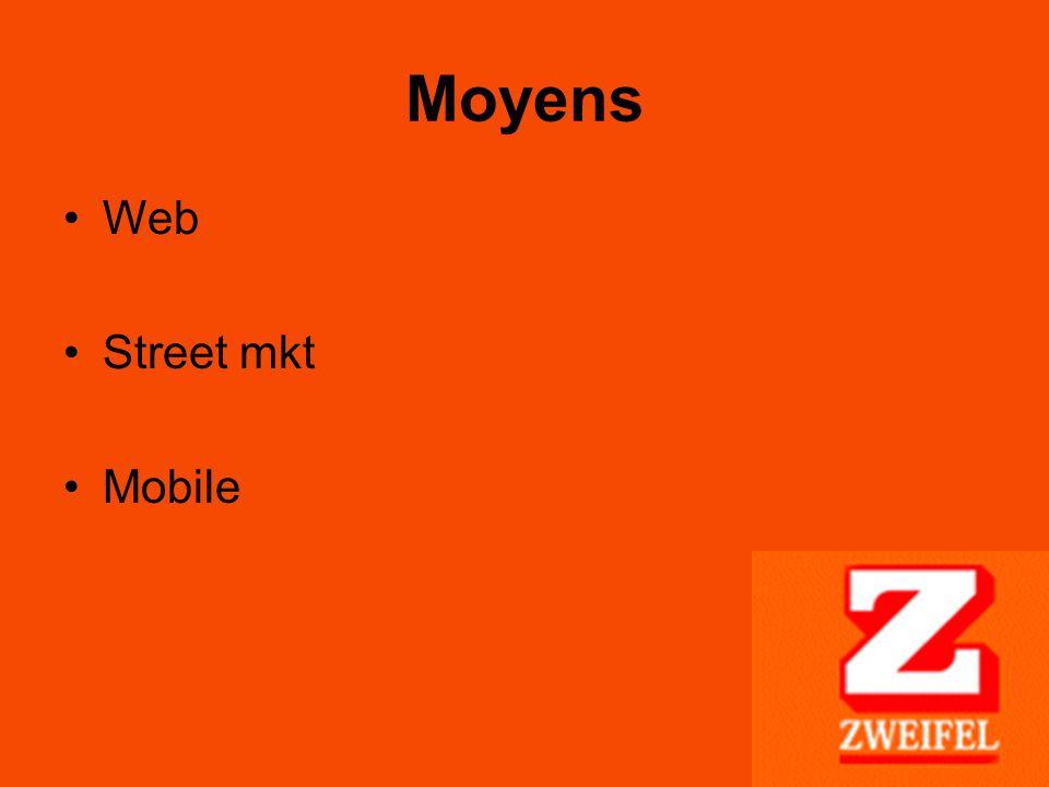Moyens Web Street mkt Mobile