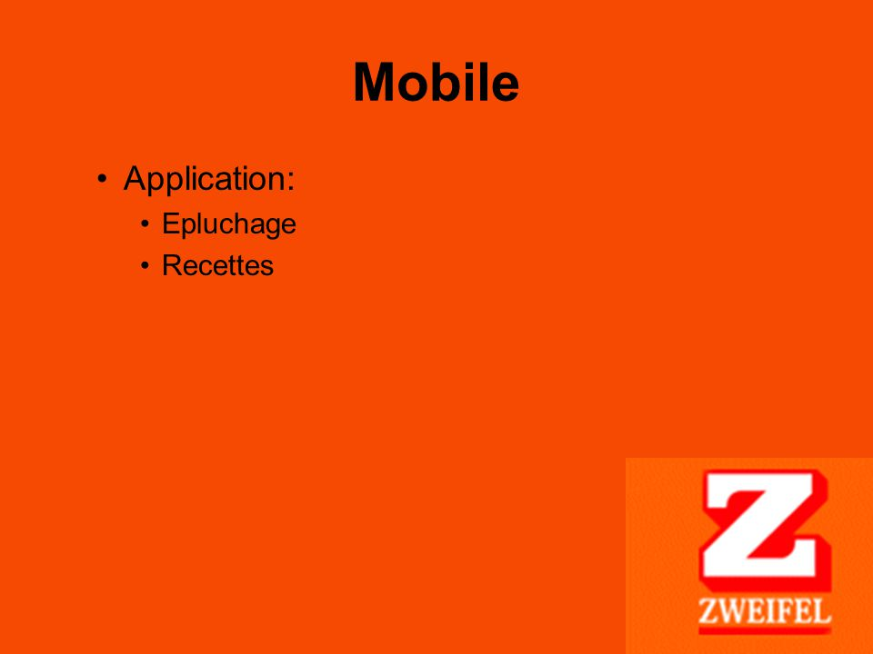 Mobile Application: Epluchage Recettes